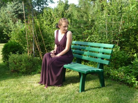 lady - garden bench 9 by indeed-stock