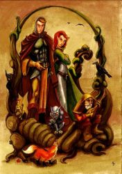 fable of the Knigh and the fox by dogiimura