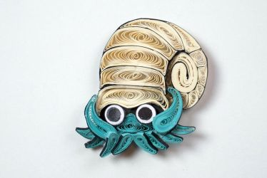 Pokemon Paper Quilling Art 138 Omanyte by wholedwarf
