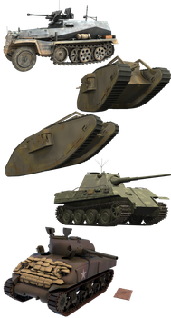 Tank Pack png - Armor Resources by rOEN911