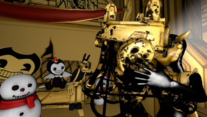 Christmas With Bendy And Gang #14 (BATIM) by Clawort-Animations