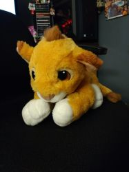 Baby Simba Plush_Thift Store Find! by SolitaryGrayWolf