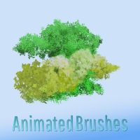 Gimp Leaf Brushes designed for Krita Users by Jshinncreative