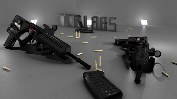 BR-55 Assault Rifle Textured by ttrlabs