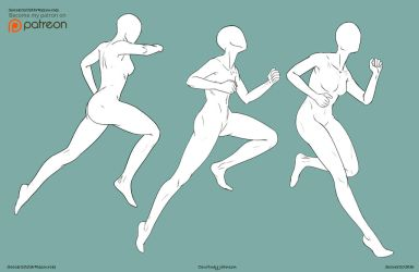 F2U - Running Poses by CourtneysConcepts