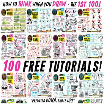 Links to ONE HUNDRED FREE TUTORIALS! by STUDIOBLINKTWICE