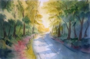 Enchanted road by bkiani