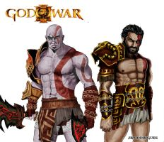 kratos and deimos by Junior-Rodrigues