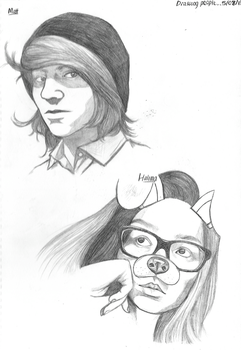 Drawing Friends by homisike