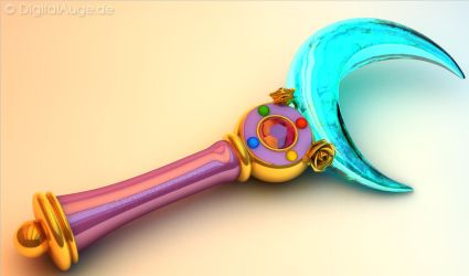 Sailor Moon Crystal Moon Stick - Mond Zepter 3D #1 by digitalAuge