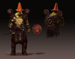Fallout: Supermutant Crossing-guard by Emortal982