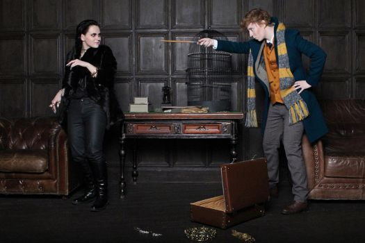 Newt Scamander and Niffler cosplay by MigraineSky