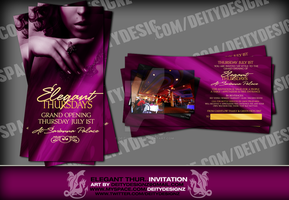 Elegant Thursdays Invitation by DeityDesignz