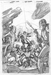 Legion Issue 7 cover pencils by Cinar
