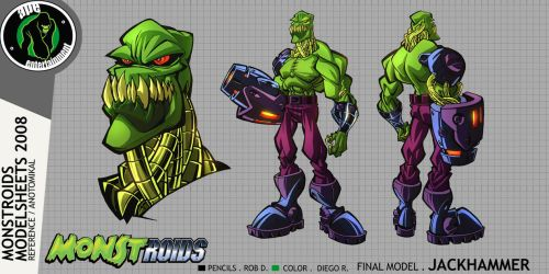 Monstroids Modelsheet 04 by RobDuenas