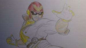 Captain Falcon/Markiplier by just-vroni