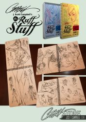 Ruff Stuff sketchbooks Vol 1 and 2 by J-Scott-Campbell