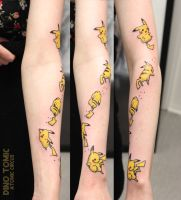 Pikachu Tattoo by AtomiccircuS