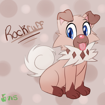 Fluffy Rock Puppy by GreenApple715
