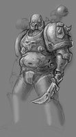 Nurgle Practice Sketch by KidneyShake