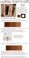 Hard and Soft leather tutorial by CoatStealer