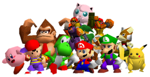 All Super Smash Bros 64 Characters by IanMcRacoon2000