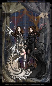 Angels of Good and Evil by bezzalair