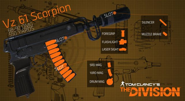 The Divison Vz61 Scorpion by MaxBdn
