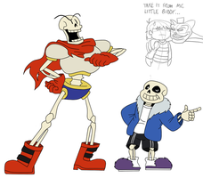 The SkeleBros (plus CreeperPants) by JSGEntertainment