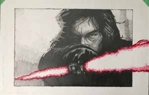 Kylo Ren from the Last Jedi Trailer by SeanM33