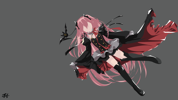 Krul Tepes (Owari no Seraph) Minimalist Wallpaper by slezzy7