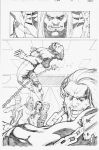 X-Men test page 1 by Arciah
