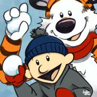 Daily Sketches Calvin and Hobbes Winter by fedde