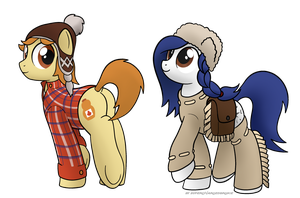 Quebec Bronies - Maple Styrrup and Mapelt Woods by Dyani-Yahto