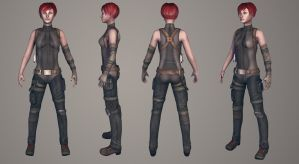 Game Model Female sniper Character by Azraele