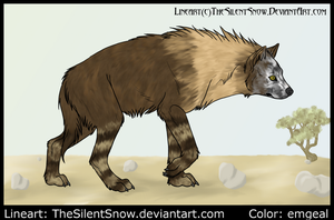 Brown Hyena by emgeal