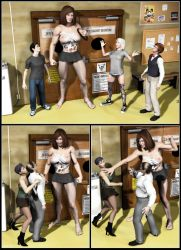 Silent Muscle Giantess Comic 12 by Stone3D