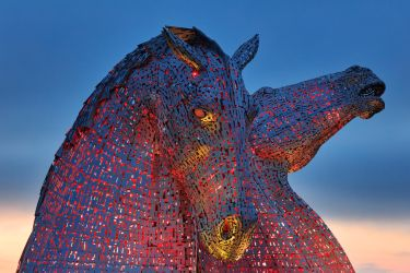 Falkirk Twilight Kelpies by somadjinn