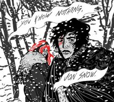 You know nothing Jon Snow by theSSjulia