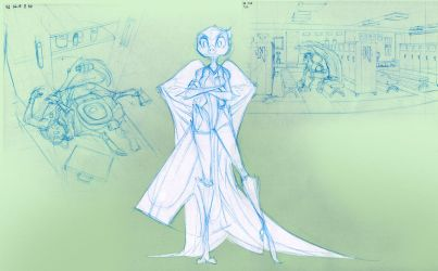 V5 Blueline sketch Fae by Dreamkeepers