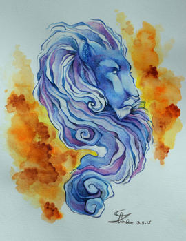 blue lion by lembuk