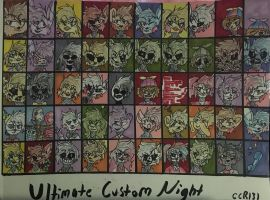 UCN 50 Character Roster (Updated) by CharCharRose131