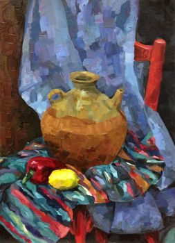 Still life with corolful rug by taerin