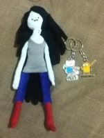 my marceline plush, finn and jake :/ by voltar517