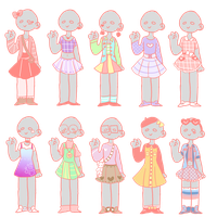 outfit adopts by bunnyguro