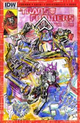 Soundwave Transformers IDW Sketch cover by mannycartoon