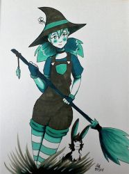 Copic Colors July: Summer Witch by RedVioletPanda