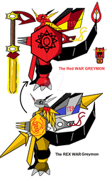 Digimon The Rex War Greymon THE RED WAR GREYMON by nirpoke1