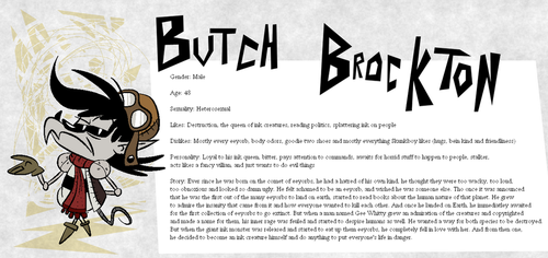 Eeyorb Bios: Butch Brockton by EeyorbStudios