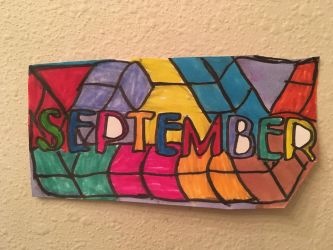 September Logo Art Colorful Design Drawing  by NWeezyBlueStars23